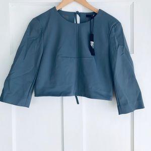 Tibi Agathe three-quarter length sleeves, crop top